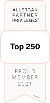 Allergan Top 250 Status Badge for The Skin Wellness Center in Knoxville TN